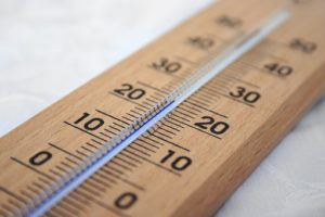 wood mounted thermometer